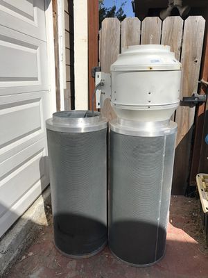 """14""""x40"""" Can-lite active carbon filters and F5 12"""" in-line fan for Sale in Oakland, CA"""