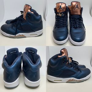 NIKE AIR JORDAN 5 V Retro Bronze Obsidian Blue Mens 12 Basketball Shoes for Sale in Euless, TX