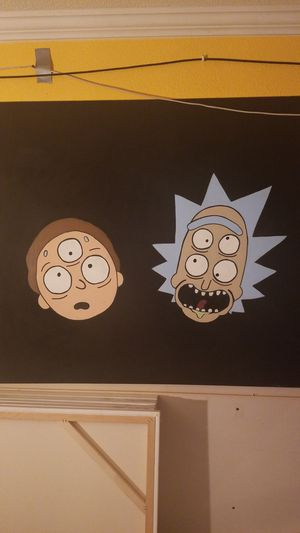 Rick and morty painting for Sale in Riverside, CA