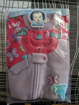 Girls Gerber six months blanket sleepers. (2pack) for Sale in San Bernardino, CA