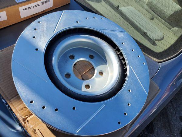 2015-2018 ford mustang power stop brake rotor