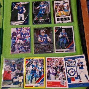 Lot Of 10 Buffalo Bills QUARTERBACK JOSH ALLEN football Cards All For $25 for Sale in Clovis, CA