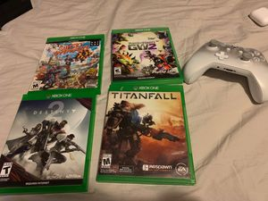 TitanFall,Destiny2,plants vs zombies garden warfare,sunset over drive and controller for Sale in Germantown, MD