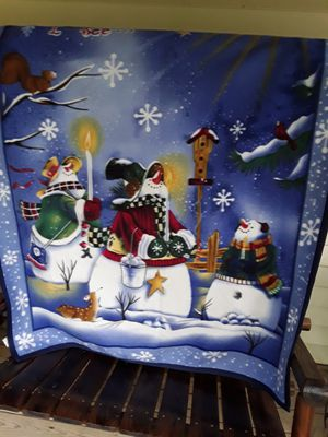 Snowman blanket,,, for Sale in Linden, PA