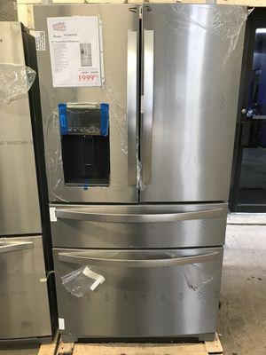HUGE MARKDOWN on Whirlpool stainless steel 5 door refrigerator for Sale in Houston, TX
