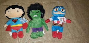 Lot of 3 Super Hero plush toys NEW for Sale in Waterford, PA