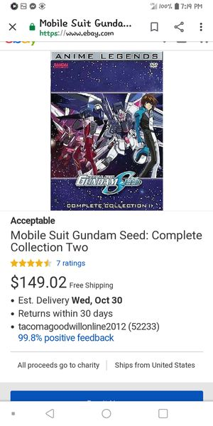 Gundam seed complete collection 2 for Sale in Willimantic, CT