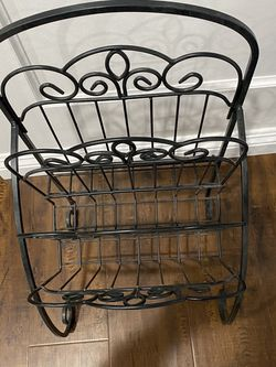 Wrought Iron Magazine Rack for Sale in Long Beach,  CA