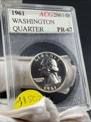 1961 silver Washington quarter 90% ACG generic grading company for Sale in Chicago, IL