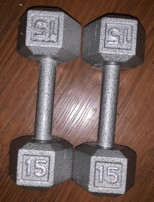 15 lb pounds dumbbells set for Sale in Los Angeles, CA