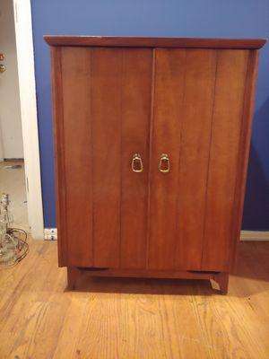 Mid century small mahogany cabinet for Sale in Kenmore, WA