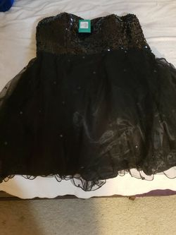 Black Sequin Strapless Prom Dress Size 12 for Sale in San Marcos,  CA