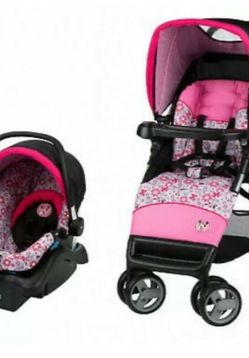 Minnie Mouse Car seat & Stroller for Sale in Houston,  TX
