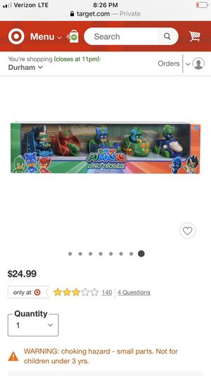 NIB PJ Masks Mini Vehicles (5 pack) for Sale in Charlotte, NC