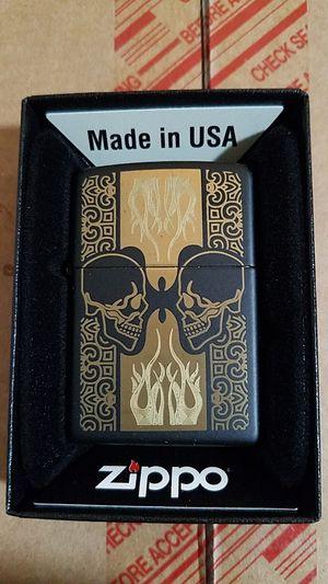 Zippo skull design black matte 29404 for Sale in Los Angeles, CA