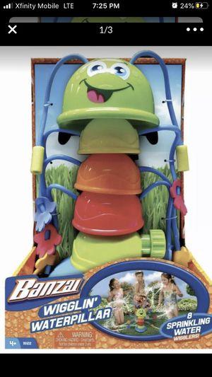 Banzai Wigglin' Waterpillar Backyard Outdoor Kids Fun Water Sprinkler Toy New for Sale in Fayetteville, PA