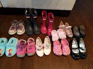 Girls hunter boots, converse, h and m, ect for Sale in Chesapeake, VA