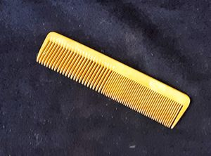 "Antique carved butterscotch CELLULOID or Bakelite early plastic LARGE hair comb 8.25"" L for Sale in Saginaw, MI"