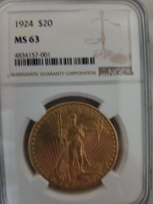 1924 $20 Saint Gaudens NGC MS63 for Sale in Harrisonburg, VA