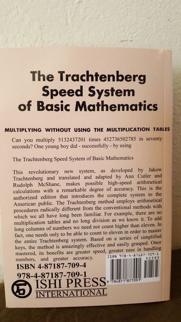 The Trachtenberg Speed System of Basic Mathematics for Sale in Riverside,  CA - OfferUp