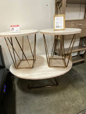 Tarica Occasional Table Set, Two Tone for Sale in Downey, CA