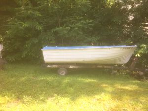 Boat, trailer and trolling motor for Sale in Lock Haven, PA