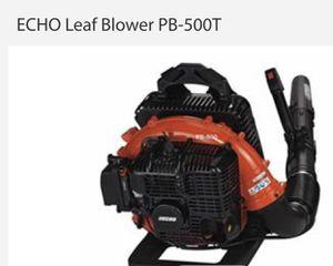 LEAF BLOWER: ECHO MODEL PB-500T, TYPE: GASOLINE, 25CC Notes: USED LEAF BLOWER: ECHO , TYPE: GASOLINE, 25CC for Sale in Dallas, TX