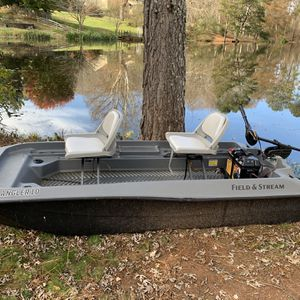 Angler 10 Boat With Trolling Motor And Battery for Sale in Canton, GA