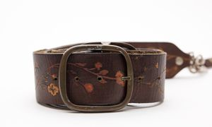 Vintage Leather Adjustable Camera Neck Strap w/ Floral Design! for Sale in Chula Vista, CA