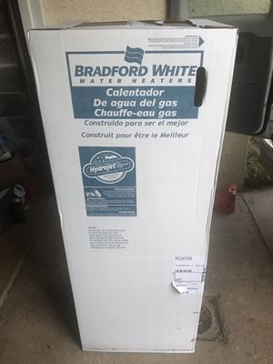 Brand new 50 gallon Bradford white tall gas water heater. Comes with 6 year manufacturers warranty. Can be installed or delivered or a fee for Sale in Philadelphia, PA