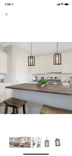 Kitchen island pendant lights x3 for Sale in Arvada, CO