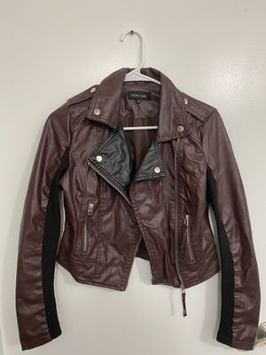 Burgundy/black jacket size S for Sale in Los Angeles, CA