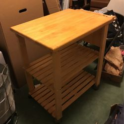 Solid Wood Kitchen Butcher Table for Sale in Seattle,  WA