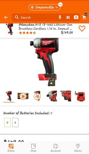 Milwaukee M18 brushless 1/4 hex impact driver tool only for Sale in Greenville, SC