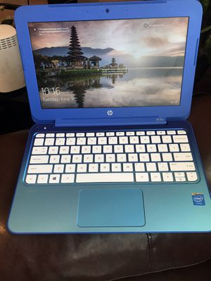 Beautiful Hp stream blue notebook for Sale in Newark, NJ