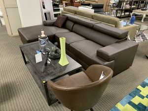 Brown leatherette sectional sofa retails for $1599 for Sale in Alexandria, VA