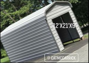 New 12' x 21' x 9' Steel Garage with 8' x 8' Rollup Door for Sale in Lowell, MA