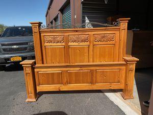 KING BEDROOM SET- bed frame, dresser, 2 side tables for Sale in Queen Creek, AZ
