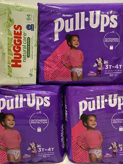 Huggies Pull-Ups size 3t-4t + wipes $20 for all for Sale in Lynwood,  CA
