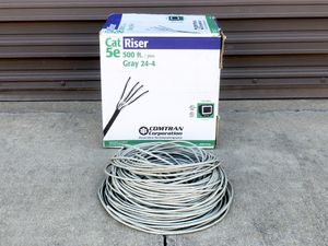 New 125-175ft of 5e Gray Riser Ethernet Cable - COMPTRAN for Sale in Broken Arrow, OK