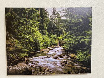 River Near Mountain Canvas for Sale in Yakima,  WA