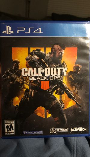 Call Of Duty Black Ops 4 PS4 for Sale in Murfreesboro, TN