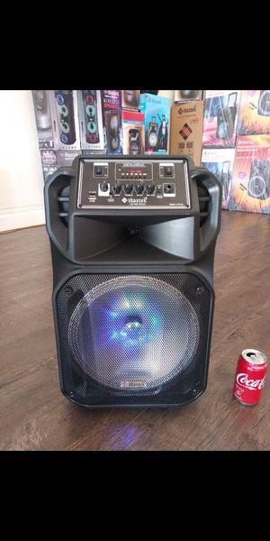 "Bocina Nueva Bluetooth Karaoke Speaker 12"" Woofer LED Lights / USB / MICRO SD CARD / FM RADIO 📻 . 📦 Rechargeable 🔋 +++ for Sale in Los Angeles, CA"