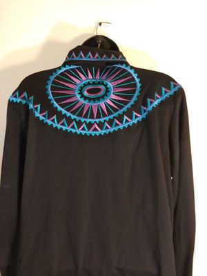 Size large Bob Mackie wearable art shirt black for Sale in Takoma Park, MD
