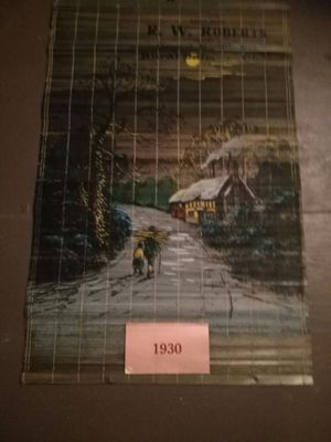 Vintage wooden roll up Calendar - from 1930 for Sale in Crooksville, OH