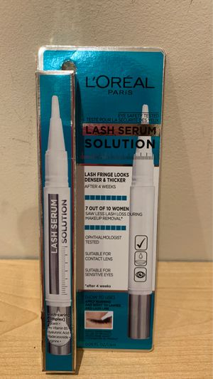 Loreal lash serum — lashes look denser and thicker after 4 weeks of use for Sale in Alexandria, VA