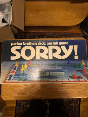 Sorry Board Game for Sale in Brookline, MA