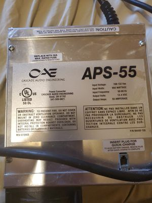 APS 55 Amp 900 Watts Pro Grade Audio Power Supply for Sale in Las Vegas, NV