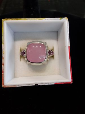 Silver pink stone ring for Sale in Oak Grove, OR
