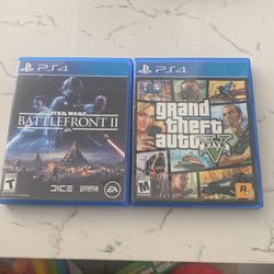 PS4 GTA 5 and STAR WARS BATTLEFRONT 2 for Sale in Lynwood,  CA